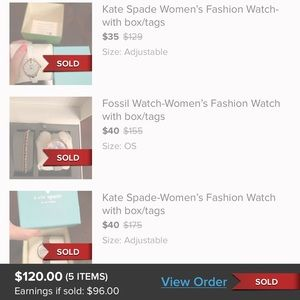 kate spade Accessories - 2 Kate spades, 1 Ted Baker, 2 fossil watches